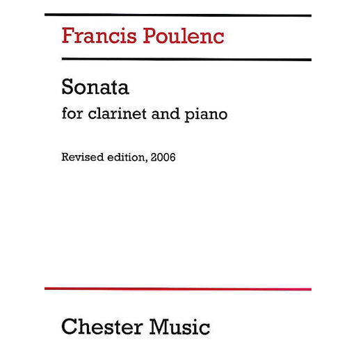 Sonata for Clarinet and Piano - Octave Music Store