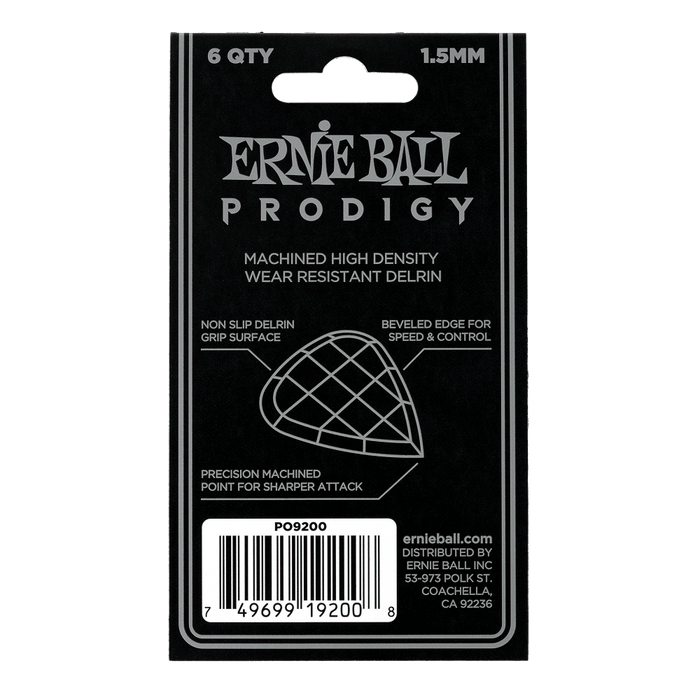 Ernie Ball Mini Prodigy Pick 1.5mm (Six Pack)