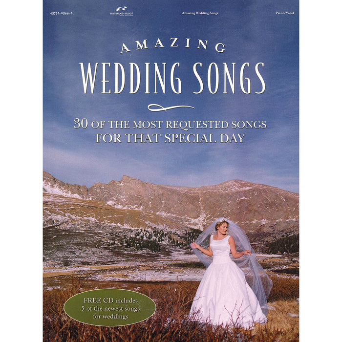 Amazing Wedding Songs For Piano/Vocal With CD
