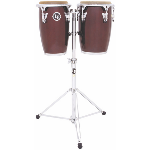 LP -  Jr Wood Conga Set, Wine Red/Chrome - Octave Music Store