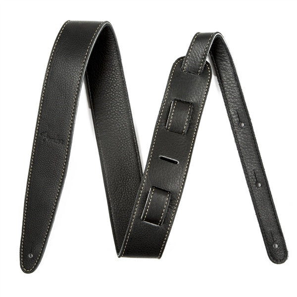 "Fender Artisan Crafted Leather Strap, 2"" Black - Octave Music Store - 1"