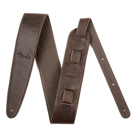 "Fender Artisan Crafted Leather Strap, 2.5"" Brown - Octave Music Store - 1"