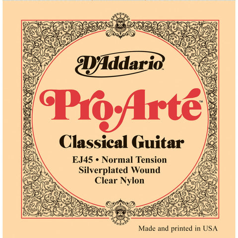D'Addario EJ45 Pro-Arte Nylon Classical Guitar Strings, Normal Tension - Octave Music Store