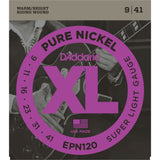 D'Addario EPN120 Pure Nickel Round Wound Electric Guitar Strings, Super Light, 9-41 - Octave Music Store - 1