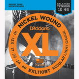D'Addario EXL110BT Nickel Wound Electric Guitar Strings, Balanced Tension, Regular Light, 10-46 - Octave Music Store - 1
