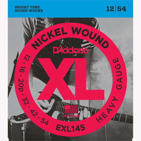 D'Addario EXL145 Nickel Wound Electric Guitar Strings, Heavy, 12-54 - Octave Music Store - 1