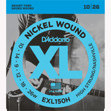 D'Addario EXL150H Nickel Wound Electric Guitar Strings, High-Strung/Nashville Tuning, 10-26 - Octave Music Store - 1