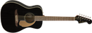 Fender-Malibu Player Acoustic Guitar: Jetty Black