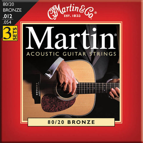 Martin M140 Light Acoustic Guitar Strings - 3 Pack - Octave Music Store