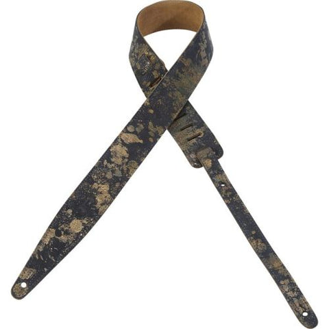 LEVYS - MSGL217-NAV VEG-TAN LEATHER GUITAR STRAP