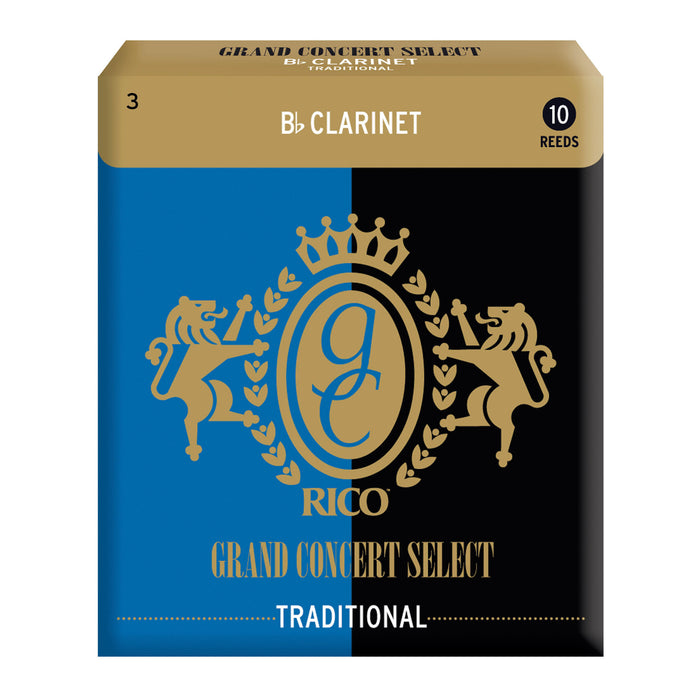 Rico Grand Concert Select Traditional Blank Bb Clarinet Reeds, Box of 10 - Octave Music Store - 3