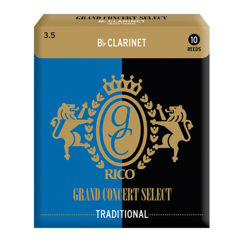 Rico Grand Concert Select Traditional Blank Bb Clarinet Reeds, Box of 10 - Octave Music Store - 4