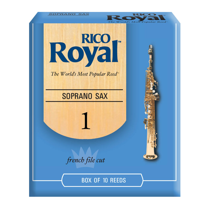 Rico Royal Soprano Saxophone Reeds, 10-pack - Octave Music Store - 1