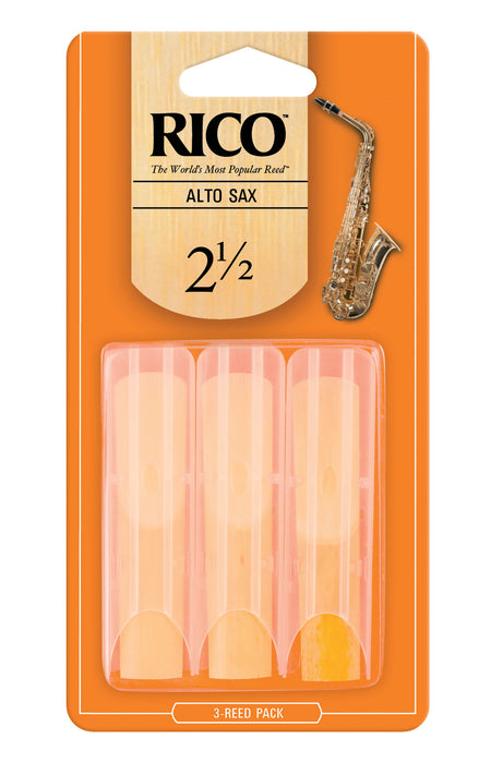 Rico - Alto Sax Reeds - 3-Pack - Octave Music Store - 3