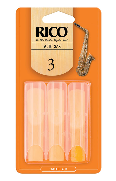 Rico - Alto Sax Reeds - 3-Pack - Octave Music Store - 4