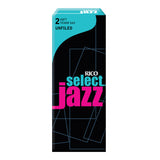 Rico Select Jazz Tenor Sax Reeds, Unfiled, 5-pack - Octave Music Store - 3