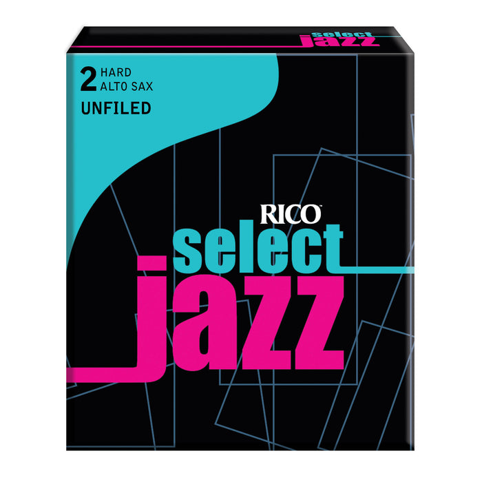 Rico Select Jazz Alto Sax Reeds, Unfiled, 10-pack - Octave Music Store - 1