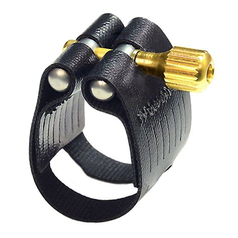 Rovner Alto Sax Ligature, Hard Rubber, Dark