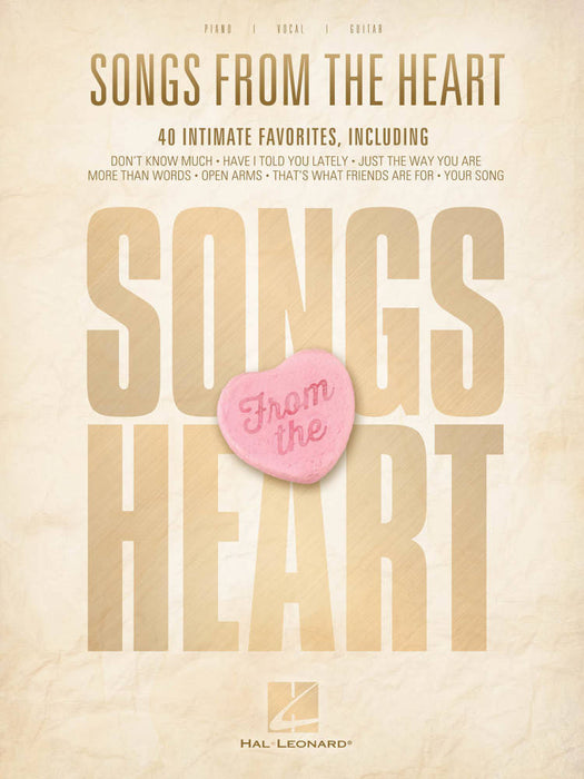 Songs From The Heart For Piano, Vocal, Guitar