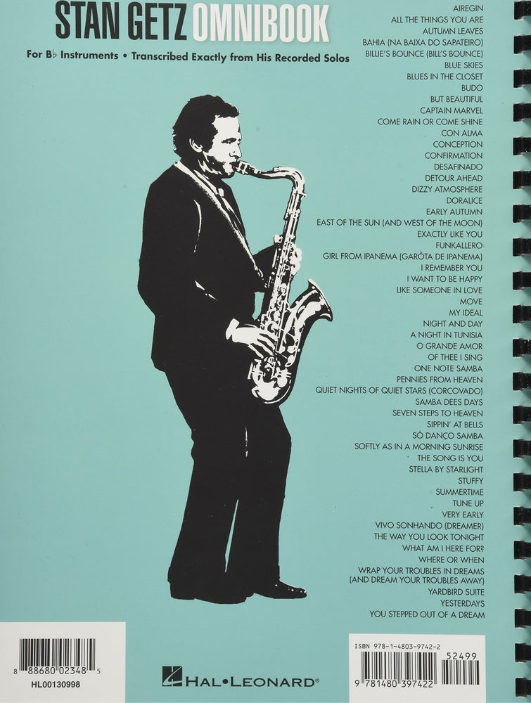Stan Getz Omnibook - For B-Flat Instruments