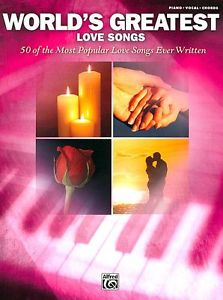 World's Greatest Love Songs for Piano, Vocal, Guitar