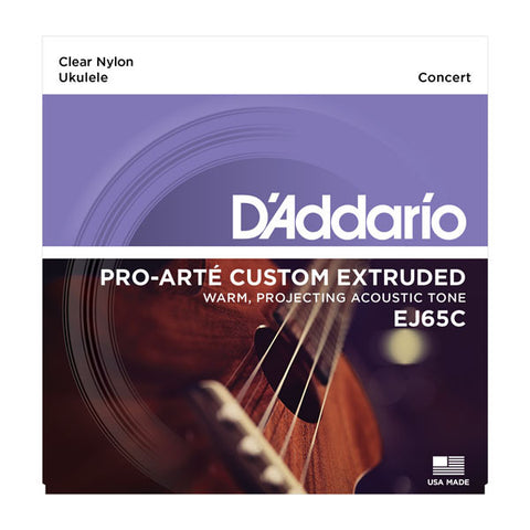 D'Addario Pro-Arte Custom Extruded Concert Ukulele Strings - EJ65C - Octave Music Store - 1