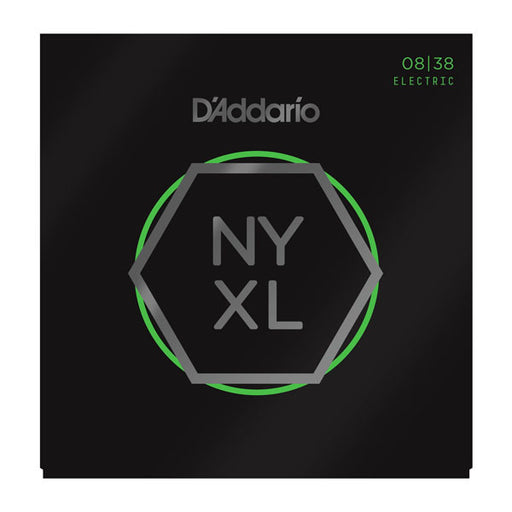 D'Addario NYXL0838 - NYXL Electric Guitar Set, Extra-Super Light, 08-38 - Octave Music Store - 1