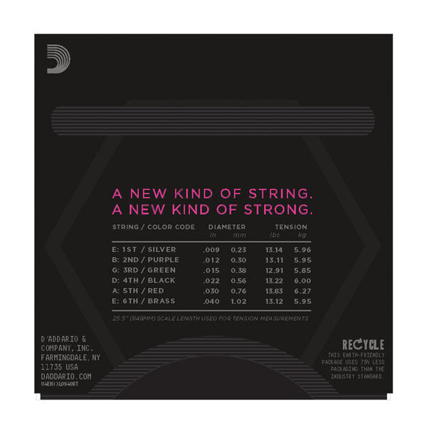 D'Addario NYXL0940BT - NYXL0940BT Nickel Wound, Balanced Tension Super Light, 09-40 - Octave Music Store - 3
