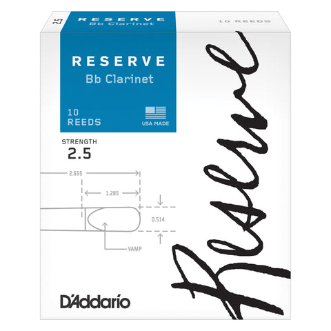 D'Addario Reserve Bb Clarinet Reeds - Octave Music Store - 1