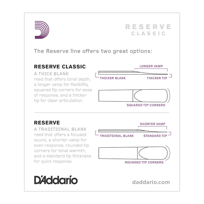 Daddario Reserve Classic Bb Clarinet Reeds - Octave Music Store - 2