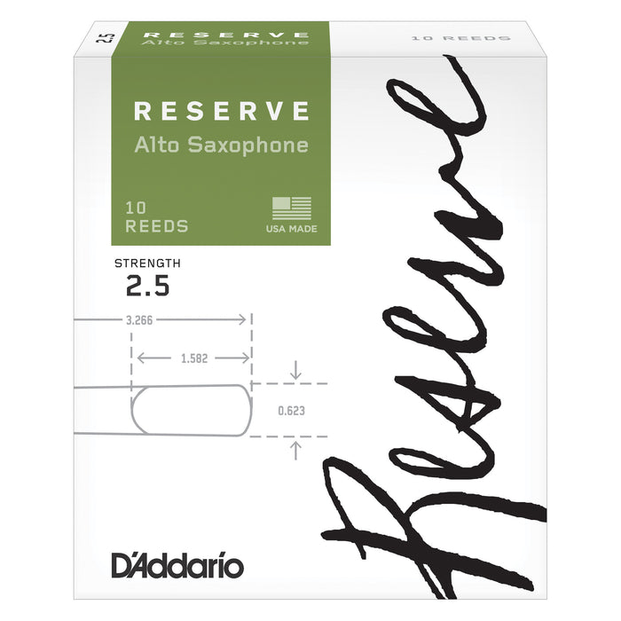 D'Addario Reserve Alto Saxophone Reeds 10-pack - Octave Music Store - 3