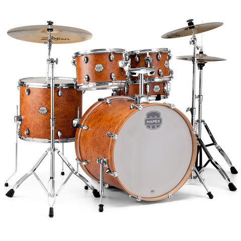 Mapex Storm 5 Piece Rock Drum Set - Camphor Wood Grain with Chrome Hardware - Octave Music Store