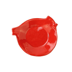Lastra Holiday Figural Red Bird Canape Plate