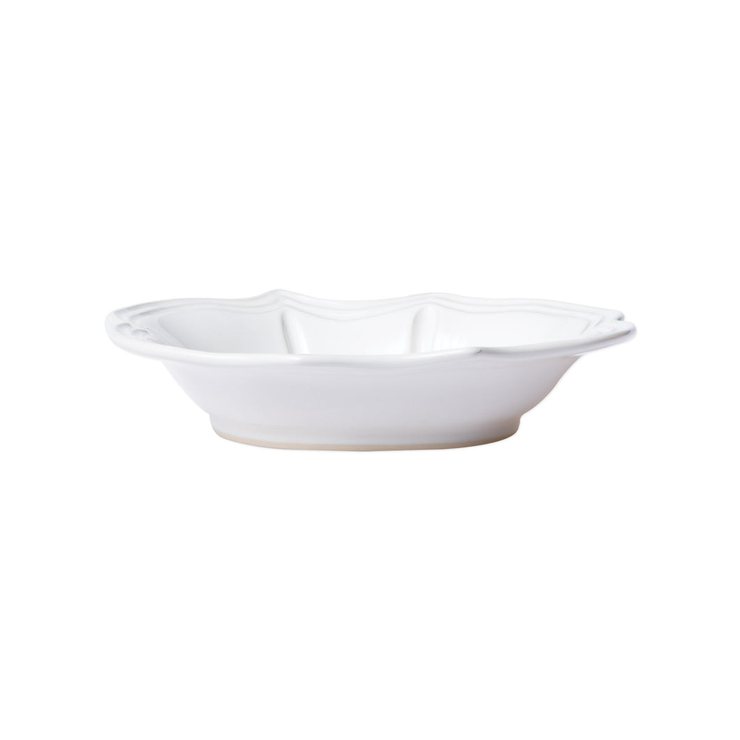 Incanto Stone White Baroque Pasta Bowl