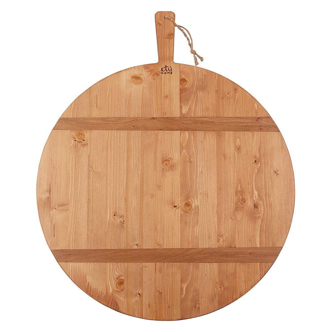 Round Oak Charcuterie Board , Large