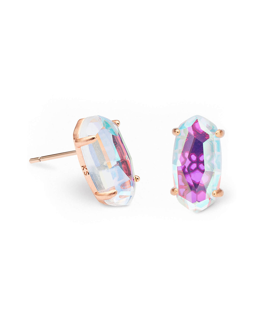 BETTY EARRING RSG BLUSH DICHROIC GLASS