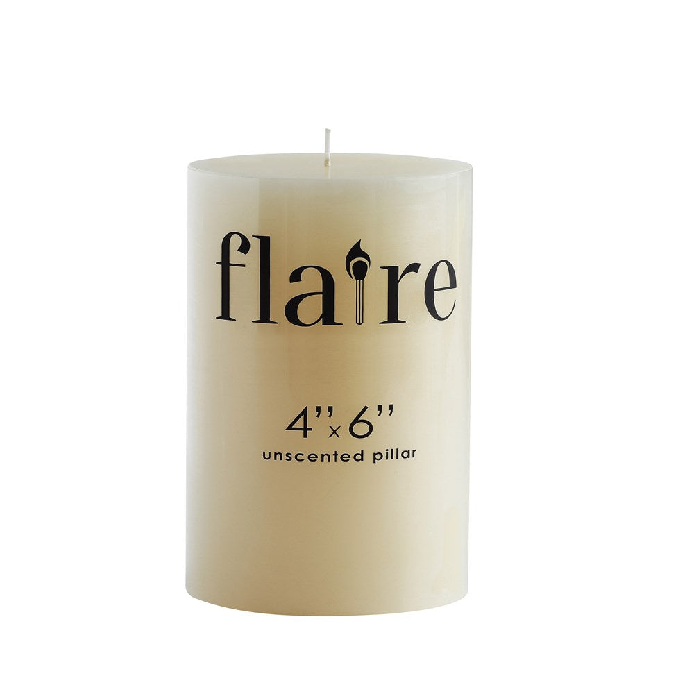 Unscented Pillar Candle 4x6