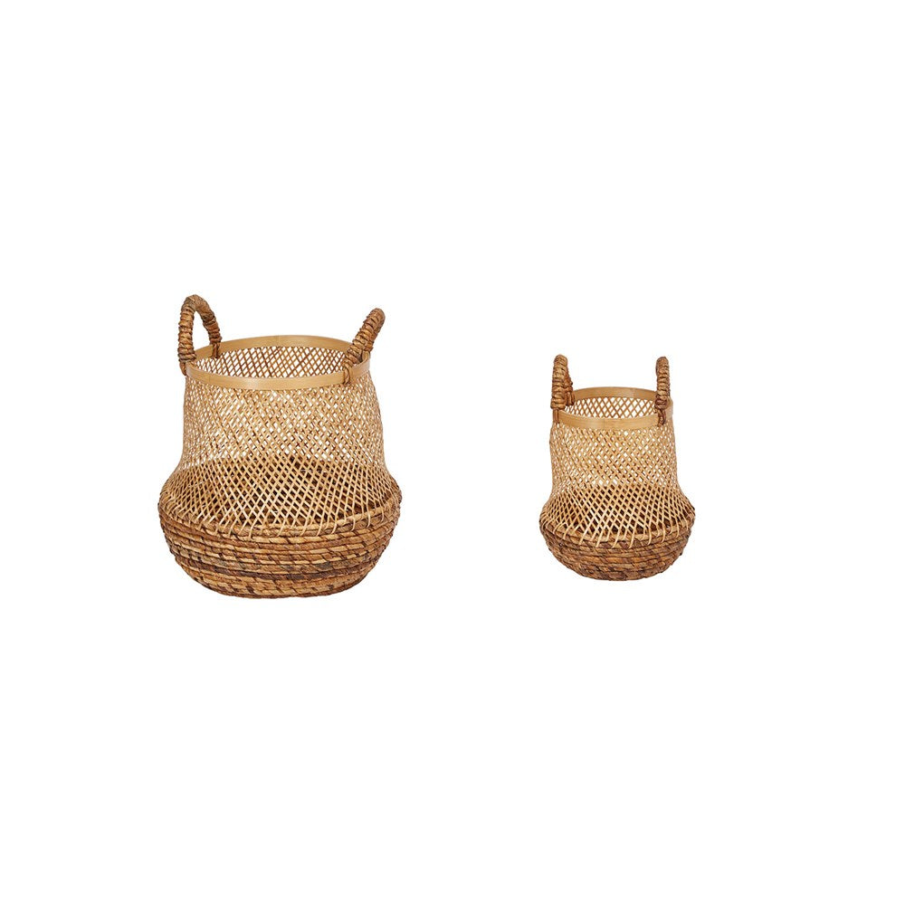 Bamboo Basket with Handles