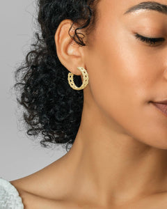 Natalie Hoop Earrings - Gold