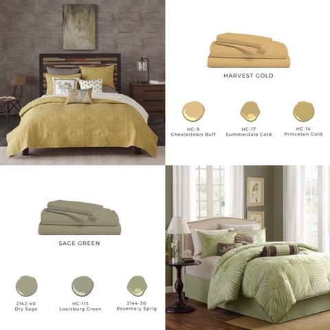 Harvest Gold and Sage Green Paint Inspiration