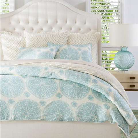Add artsy patterns to your sheets for a boho look