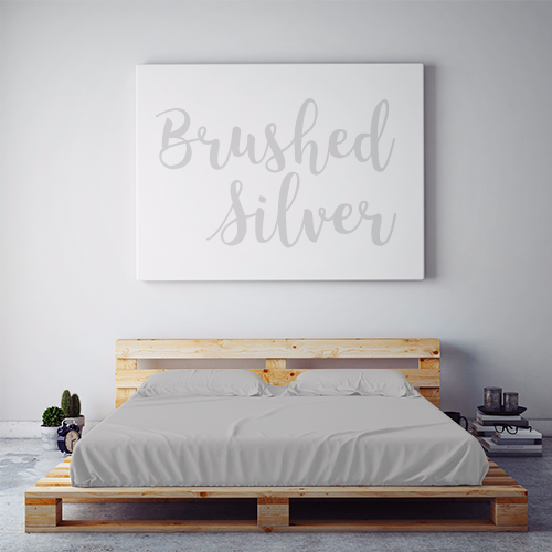 $55 BRUSHED SILVER  Feature Sheet Set ~ Queen Size