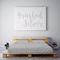 $55 BRUSHED SILVER August Feature Sheet Set ~ XL Full Dorm Size