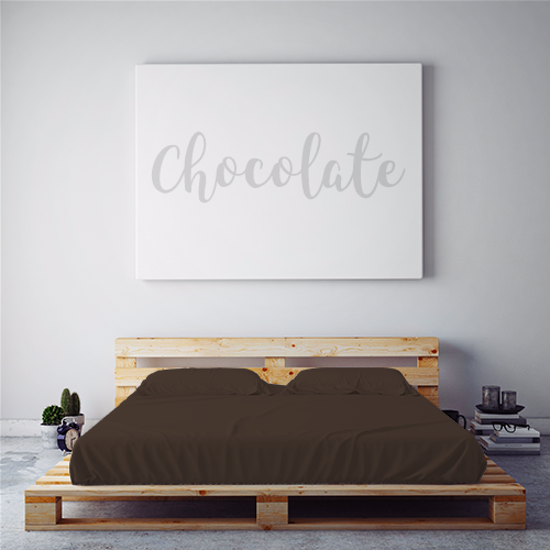 $55 CHOCOLATE February 2018 Feature Color Sheet Set ~ CALIFORNIA KING
