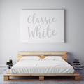 $55 CLASSIC WHITE October Feature Sheet Set ~ Twin Size