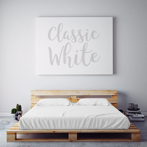 $55 CLASSIC WHITE October Feature Sheet Set ~ Regular King Size