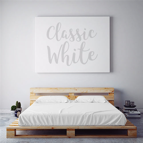 $75 CLASSIC WHITE October Feature Sheet Set ~ SPLIT KING Size for Adjustable Beds