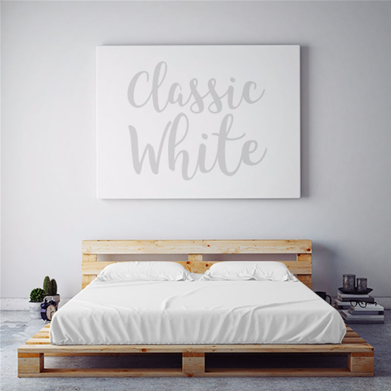 $75 CLASSIC WHITE October Feature Duvet Cover Set ~ Queen Size