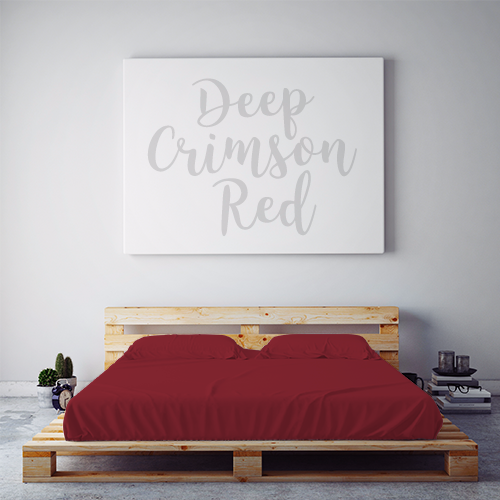 $55 DEEP CRIMSON RED November Feature Sheet Set ~ Regular King Size
