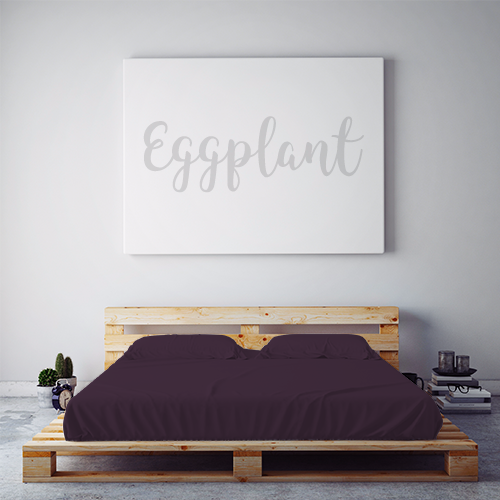 $55 EGGPLANT September Feature Sheet Set ~ Twin Size